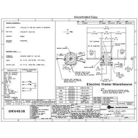 1/4 HP 115V 1625 RPM 2 sd Coleman (6757B311) RV Air Conditioner Motor Ac Rv Diagram Wiring Coleman on