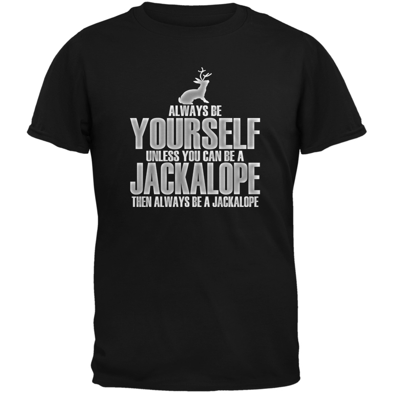Always Be Yourself Jackalope Black Adult T-Shirt