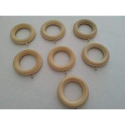 """Graber Wood Pole Rings For Up to 1 3/8"""" (35mm) Drapery Rod"""