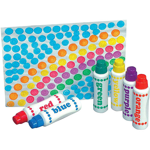 Do A Dot Washable Sponge Tip Applicator Paint Markers, Assorted Fluorescent Colors, Set of 5