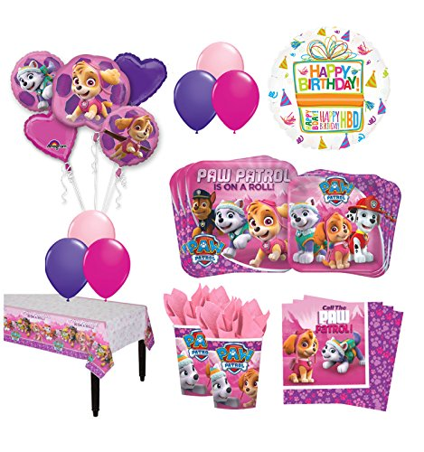 The Ultimate 8 Guest 53pc Paw Patrol Girls Skye and Everest Birthday