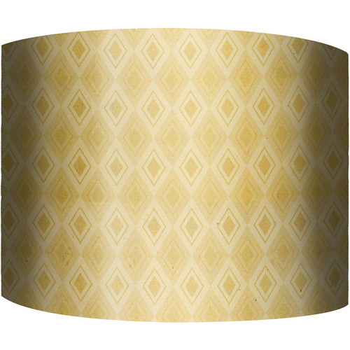 "12"" Drum Lampshade, Yellow Diamonds by"