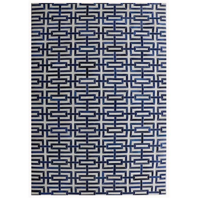 Pasargad PTX-4165 2x3 2 ft. x 3 ft. Cowhide & Hand-Loomed Sari Silk Area Rug