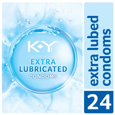 Extra Dry Thin - K-Y Condoms Extra Lubricated Latex Condoms, Ultra Thin with Extra Lubricant, 24 count