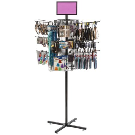 - Mobile Retail Display Rack, Gridwall with (20) 12