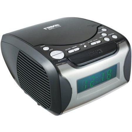NAXA Semi_Retro Design_ Digital Alarm Clock Radio and CD ...