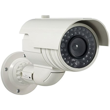 Masione  Flashing Ir Red Infrared Led Light Cctv Security Imitation Dummy Camera