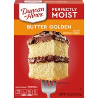 (2 Pack) Duncan Hines Classic Butter Golden Cake Mix, 15.25 oz