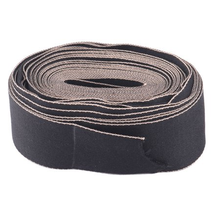 Polyester Sewing Tie Hair Hoop Butterfly Knot Ribbon Black 4cm Width 10 Yards