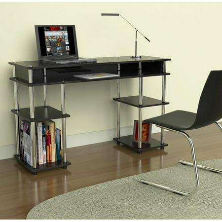 Convenience Concepts Designs2Go No Tools Student Desk, Black 4d Concepts Folding Desk