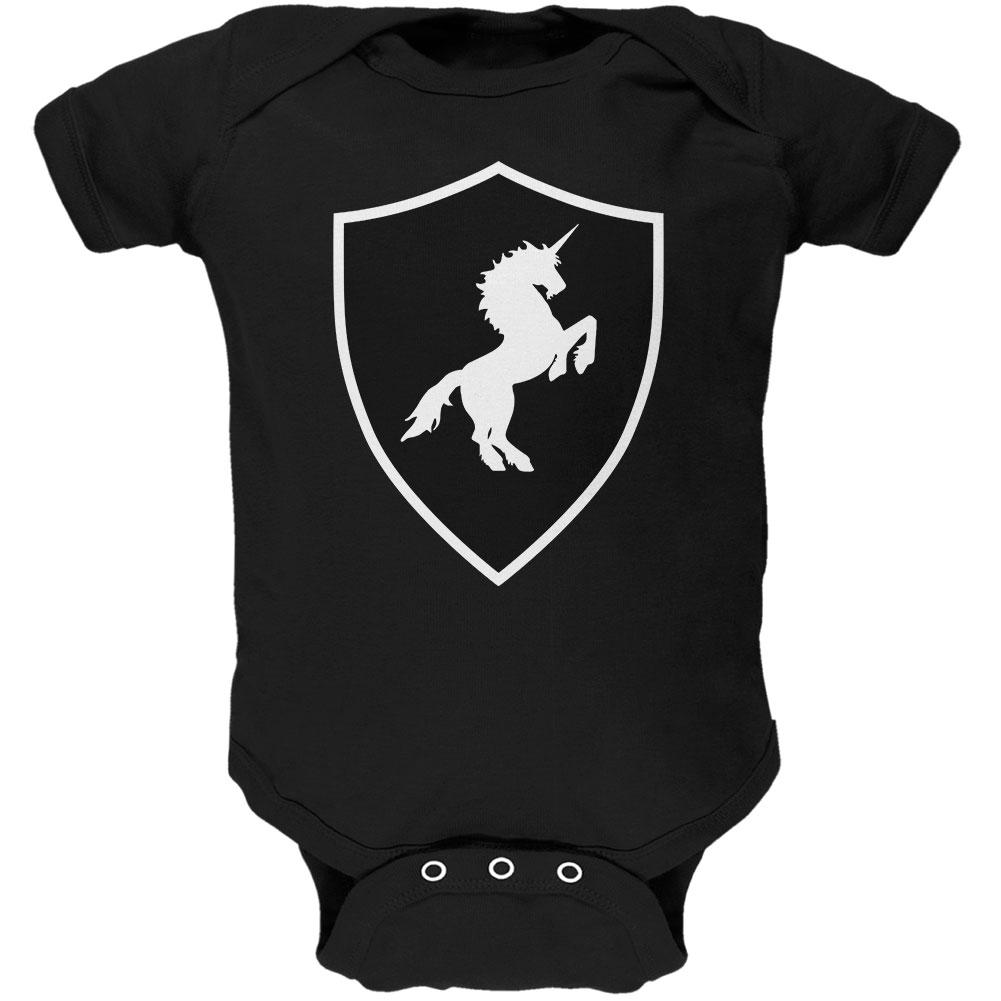 Halloween Knight Shield Costume Unicorn Soft Baby One Piece