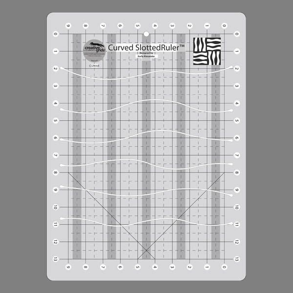 Creative Grids Curves Slotted Ruler