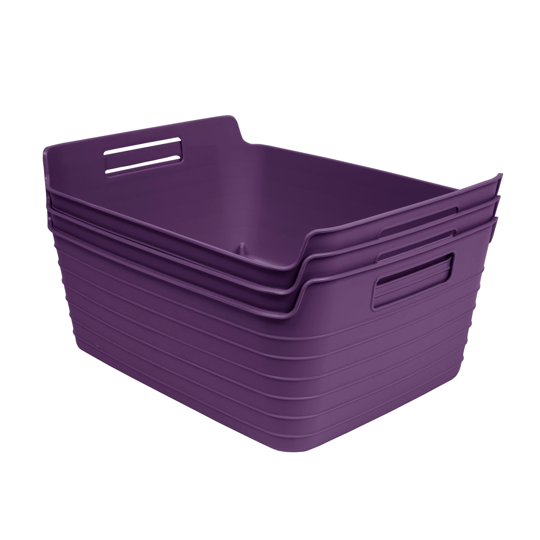 Mainstays Large Flex Bin Purple