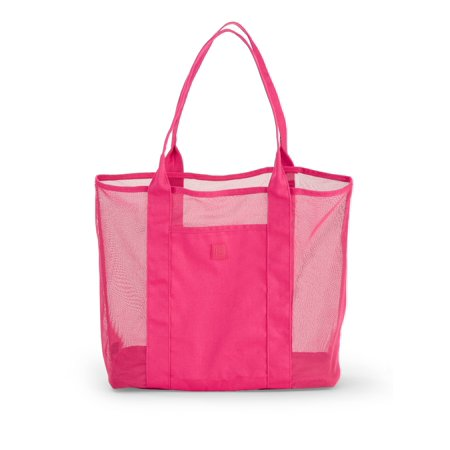 Large Beetroot Pink Beach Tote