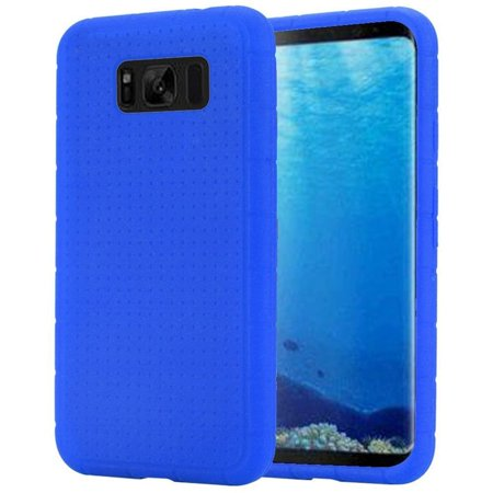 Insten Rugged Rubber Silicone Soft Skin Gel Case Phone Cover For Samsung Galaxy S8, Blue