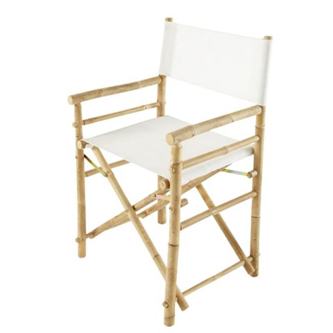 ZEW CH-007-0-03-Bamboo Director Chair - White - SET 2