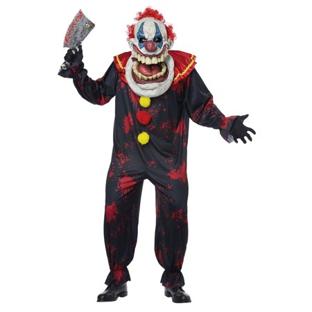 Die Laughing Big Mouth Clown Adult Halloween Costume](Mens Evil Clown Halloween Costumes)