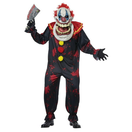 Die Laughing Big Mouth Clown Adult Halloween Costume](Clown Face Designs Halloween)