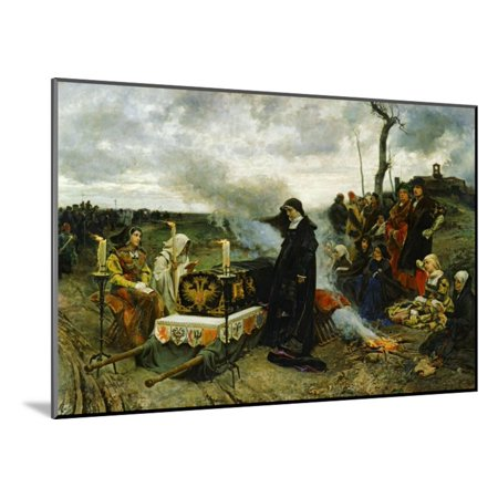 Juana the Mad Holding Vigil Over the Coffin of Her Husband, Philip the Handsom, 1877 Wood Mounted Print Wall Art By Francisco Pradilla Y Ortiz](Wood Coffin)