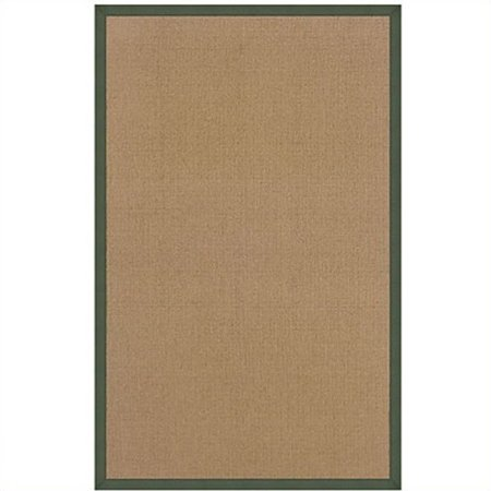 Linon Athena Cotton Rug in Cork and Green-4' x 6' ()