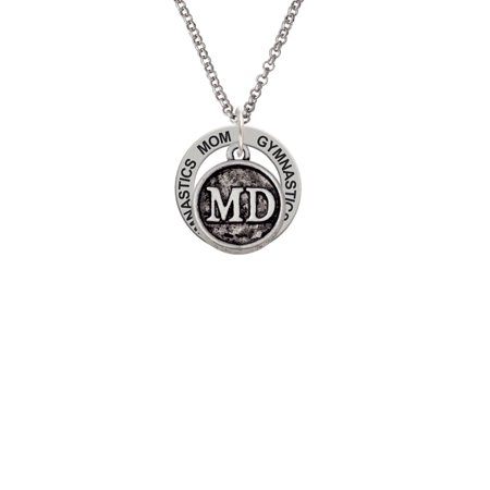 Doctor Caduceus Seal   Md I Am Blessed Affirmation Ring Necklace