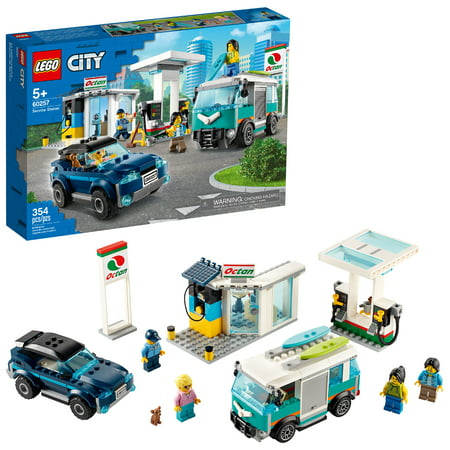 LEGO City Service Station 60257 Building Sets for Kids (354 Pieces)