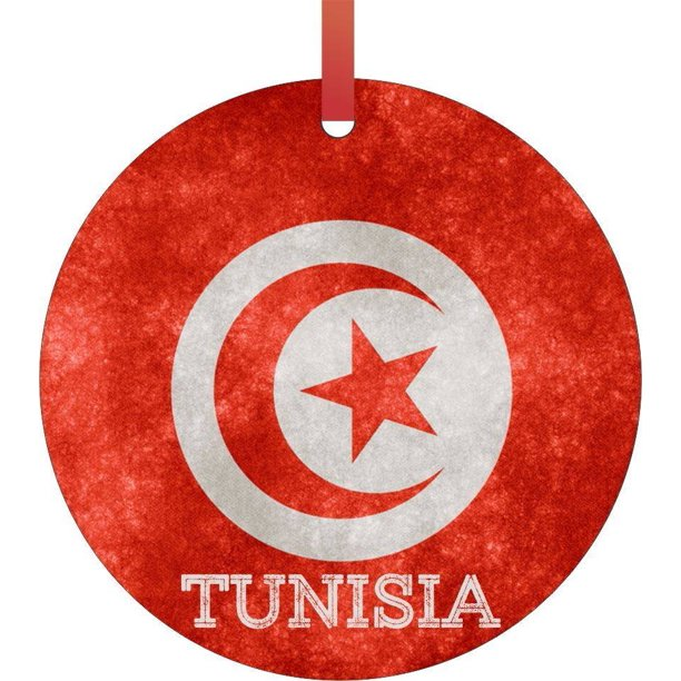 Tunisia Grunge Flag Flat Round Shaped Christmas Holiday Hanging Tree Ornament Disc Made In The U S A Walmart Com Walmart Com