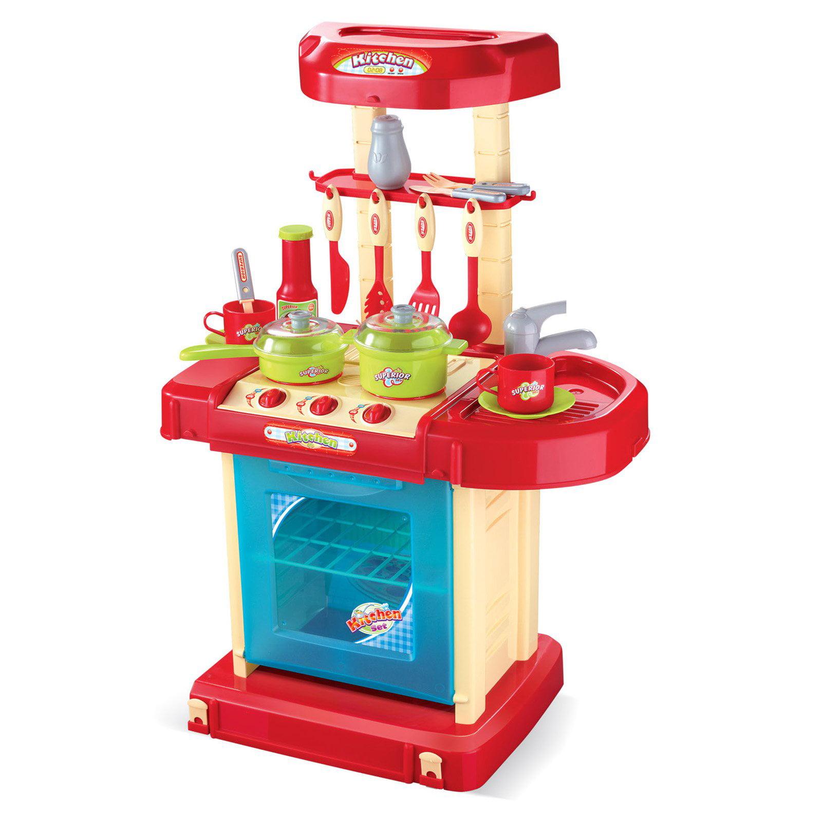 Red Play Kitchen Set red play kitchen set - home design ideas - murphysblackbartplayers