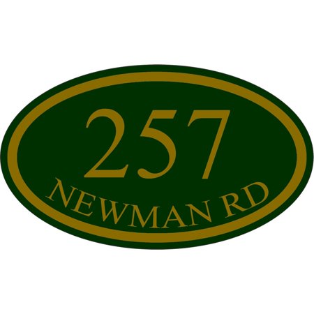 Traffic Signs - Personalized House Address Custom Plaque Sign Heavy Duty 10 x 7 Aluminum Metal Sign Street Weather Approved (Custom Street Sign)