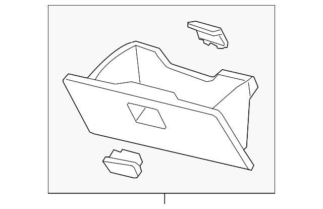 Honda Genuine 77500-SWA-A03ZB Glove Box Assembly