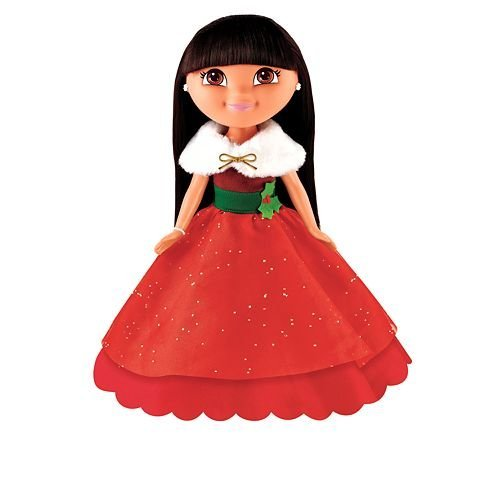 : Holiday Sparkle Dora Doll Dora the Explorer, Your little one will enjoy the season with... by