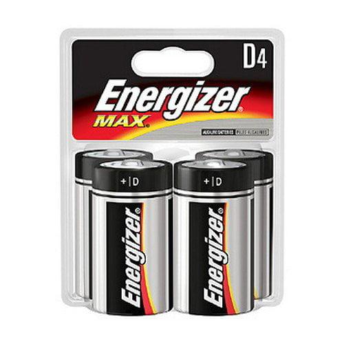 Energizer Max Alkaline Batteries D, 4 Pack