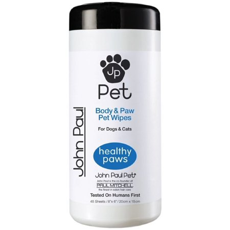 Body Electrical Wiper - John Paul Pet Body & Paw Pet Wipes 45 ea