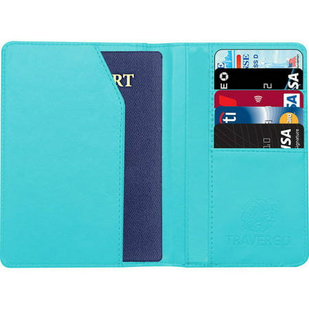 PU Leather Passport Holder, Blue TR1240BL (Novelty Passport)
