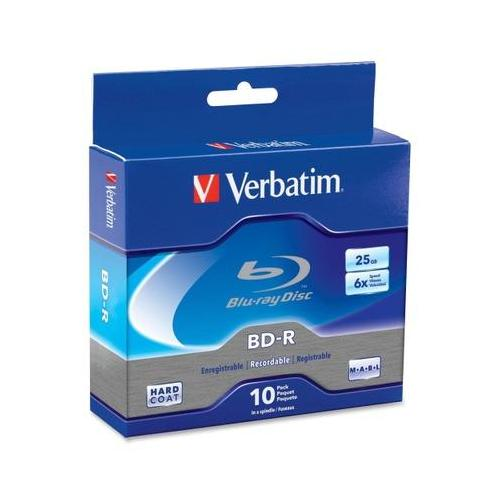 Verbatim 97238 Blu-ray Recordable Media - 6x - 25 GB - 10 Pack Spindle VER97238