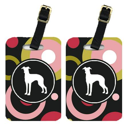 Pair of 2 Italian Greyhound Luggage Tags