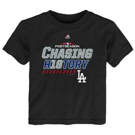 Los Angeles Dodgers Majestic Preschool 2018 Division Series Clincher Locker Room T-Shirt - Black (Preschool Graduation Shirts)