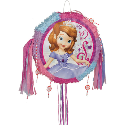 Sofia the First Pinata, Pull String, 19 x 18, 1ct