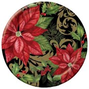 """Club Pack of 96 Holiday Elegance Round Premium Strength Disposable Lunch Plates 7"""""""