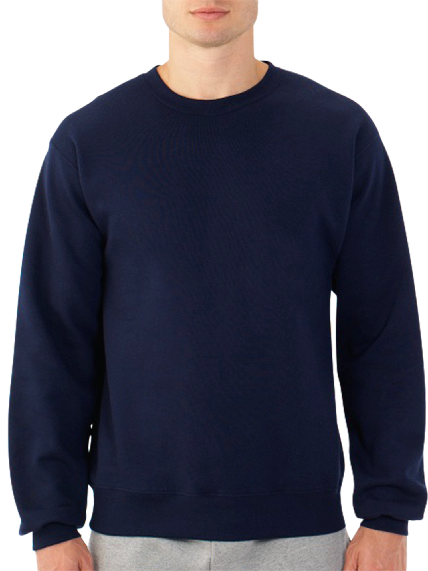 6d6a72ae97e6 Fruit of the Loom - Fruit of the Loom Men s Dual Defense EverSoft Crew  Sweatshirt - Walmart.com