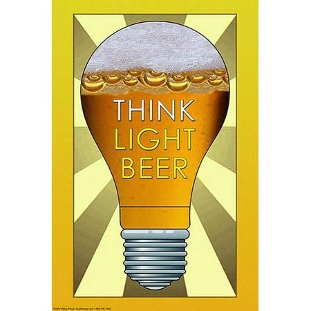 "Think Light Beer- Fine Art Canvas Print (20"" x 30"")"