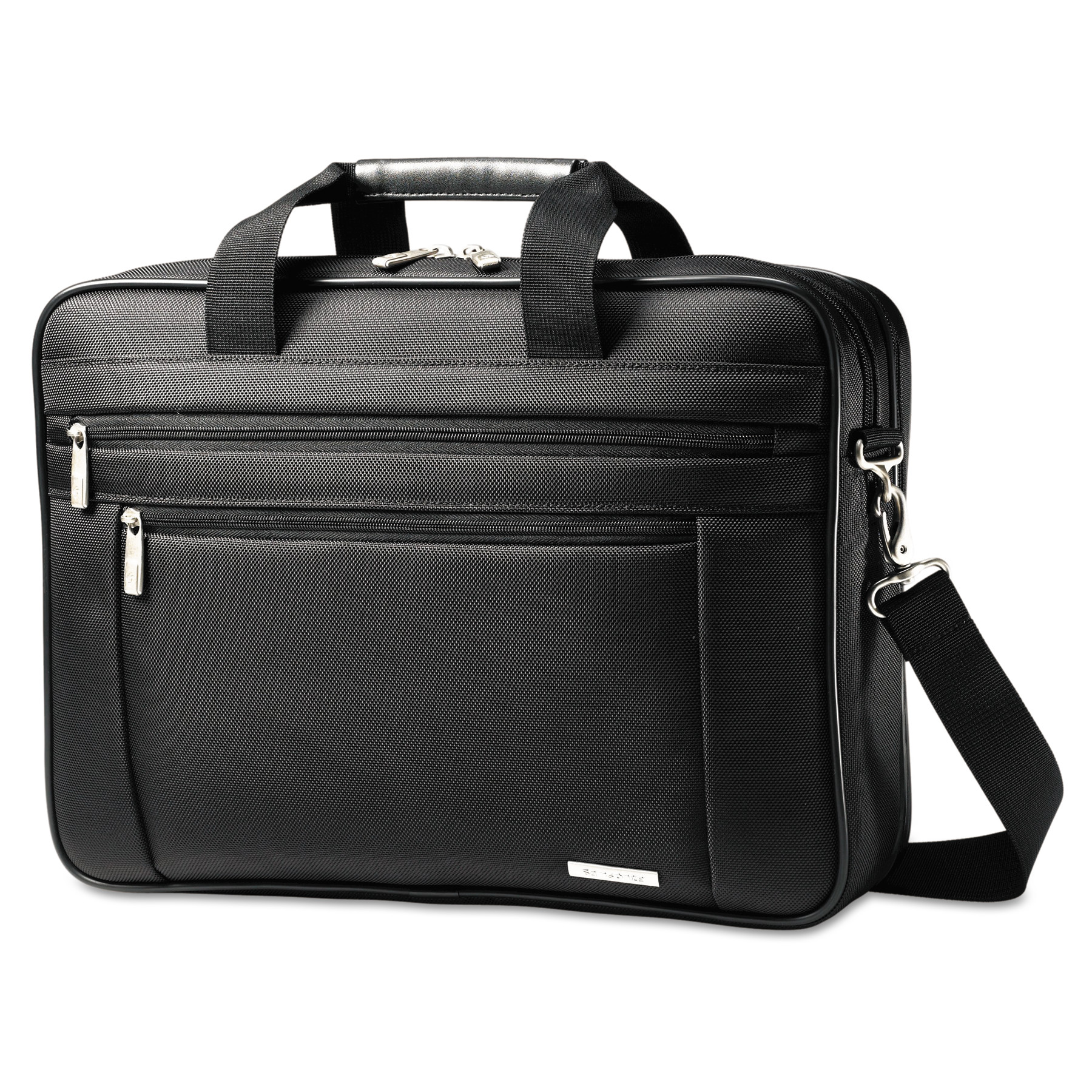 Samsonite Classic Perfect Fit Laptop Case, 16 1 2 x 4 1 2 x 12, Nylon, Black by Samsonite