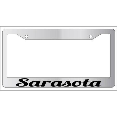 Sarasota Chrome Plastic License Plate Frame City State](Halloween City Sarasota)