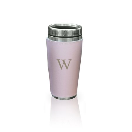Personalized Faux Leather Wrapped Travel Tumbler