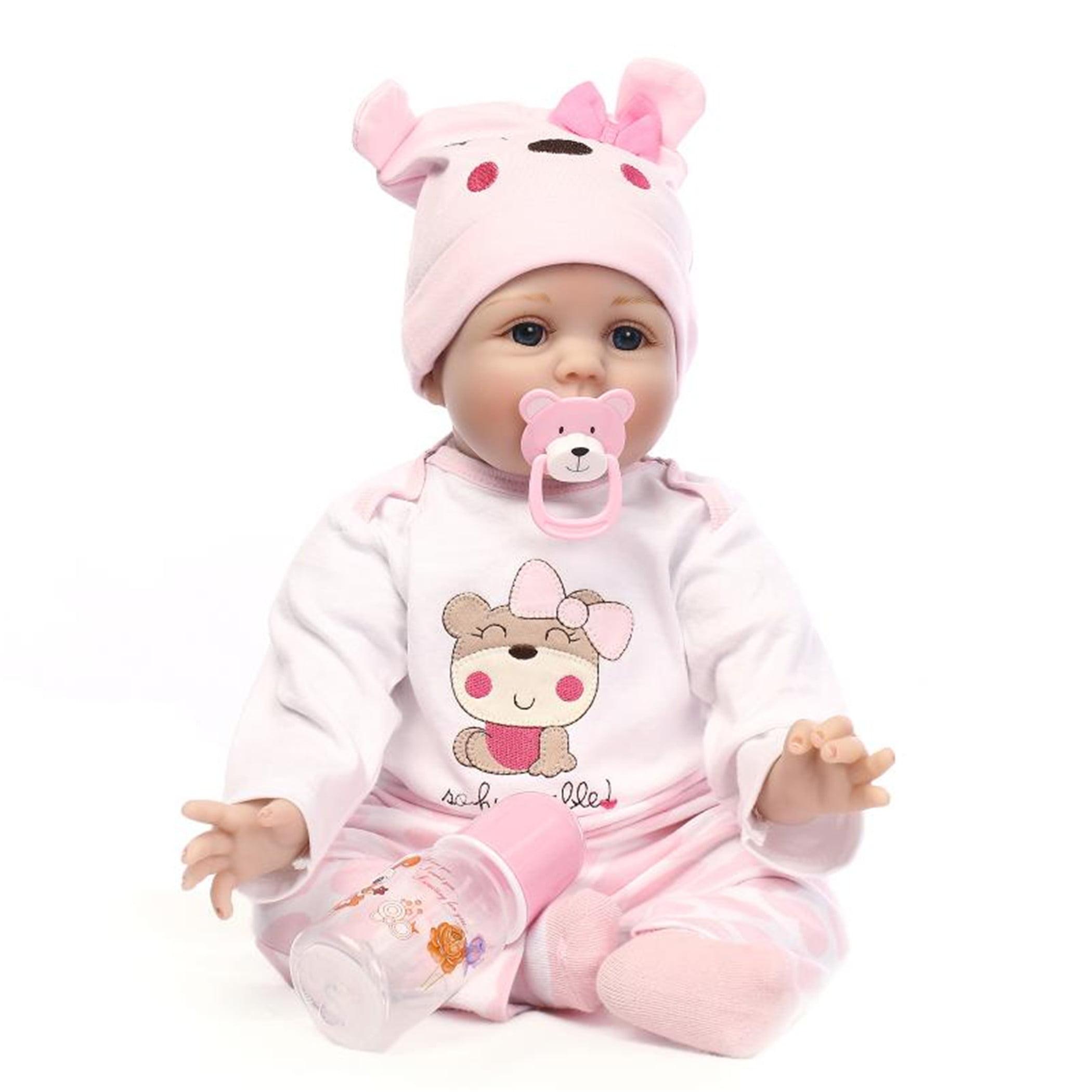 Reborn Baby Doll Soft Silicone vinyl 22inch 55cm Lovely Lifelike Cute Baby Birthday gift Christmas gift by JOVIVI