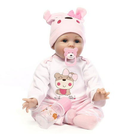 Reborn Baby Doll Soft Silicone Vinyl 22inch 55cm Lovely Lifelike Cute Birthday Gift Christmas