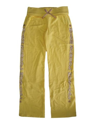 Girls Yellow High School Musical Bow Cotton Sweat Pants 8-16