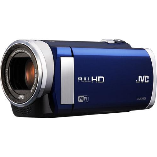"JVC GZ-EX210 Blue HD Flash Memory Digital Camcorder w/ 40x Optical Zoom, 3"" LCD, Built-In WiFi"