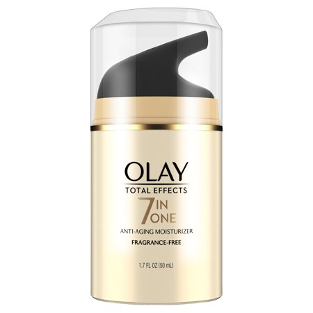 Olay Total Effects Anti-Aging Face Moisturizer, Fragrance-Free 1.7 fl (Liquid Nitrogen For Age Spots On Face)