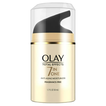 Olay Total Effects Anti-Aging Face Moisturizer, Fragrance-Free 1.7 fl